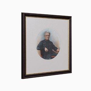 Retrato inglés, década de 1890, óleo sobre lienzo, enmarcado