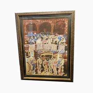 Impresión en tapiz de Julian Graus Santos, Tendido Taurino, años 80