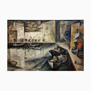 Camilo Port, Puerto, 1970er, Öl auf Leinen