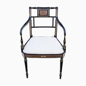 Regency Ebonised Elbow, Carver or Desk Chair, 1825