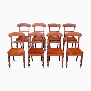 19th Century Mahogany Kitchen or Dining Chairs, 1860s, Set of 8