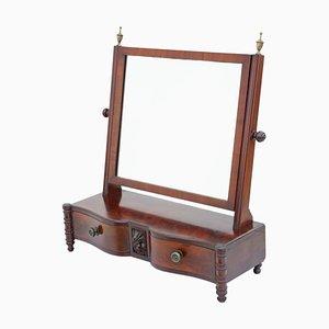 Regency Mahogany Serpentine Dressing Table with Swing Mirror, 1825