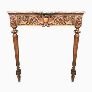 Louis XVI Konsole aus Nussholz