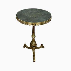 Mesa Imperio Gueridón de bronce dorado, 1850-1880