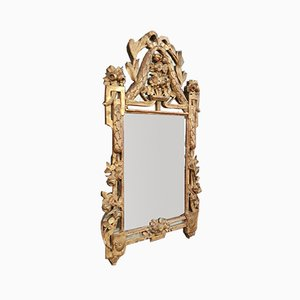 Louis XVI Period Carved Wood and Gilded Mirror, 1760-1780