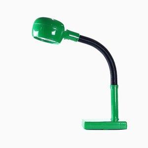 Lámpara de mesa era espacial de plástico verde, años 60