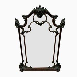 Großer barocker Louis Xv Spiegel aus Nussholz