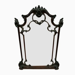 Large Louis Xv Baroque Walnut Mirror