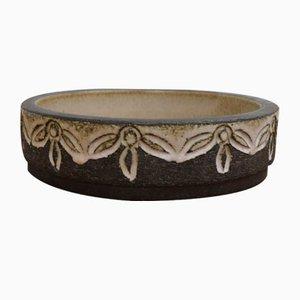 Cuenco danés Mid-Century de cerámica de Løvemose Keramik, años 60