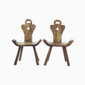 Silla holandesa de madera hecha a mano, años 20