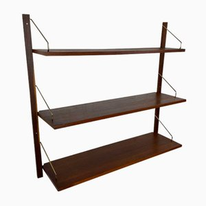Vintage Scandinavian Wall Shelves or Royal System in Teak by Poul Cadovius, 1960s