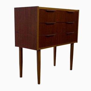 Small Vintage Scandinavian Dresser or Hall Console in Teak, 1960s