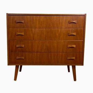 Vintage Scandinavian Teak 4-Drawer Dresser from Clausen & Søn, 1960s