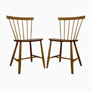 Dining Table Chairs Model J46 by Poul M. Volther for FDB Møbler, Set of 2