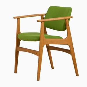 Dänischer Vintage Stuhl aus Eiche von Erik Kirkegaard, Dänemark, 1960er