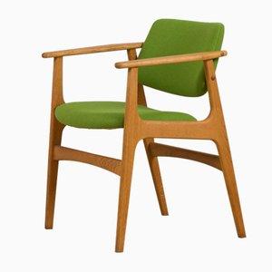 Vintage Danish Oak Chair by Erik Kirkegaard, Denmark, 1960s