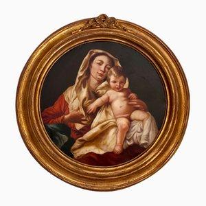 Ciro De Lucia, Maternità, años 90, óleo sobre lienzo, enmarcado