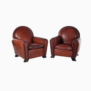 Art Deco Schafsfell Sessel von Lounge Atelier, 1960er, 2er Set