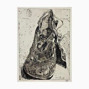 Horst Janssen, Verlobung, 1982, Impression sur Papier Signée à la Main