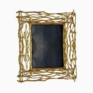 Italian Gilt Metal Branch Picture Frame from Fondica, 1990s