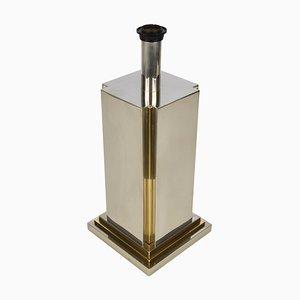 Lámpara de mesa de acero y latón de Carlo Venturini para Lumen, Italy, años 70