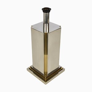 Steel and Brass Table Lamp by Carlo Venturini for Lumen, Italy, 1970s