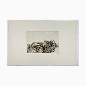 Horst Janssen, Langenhorn / Schuh, Freundschaft II, 1972, Handsignierter Druck auf Papier