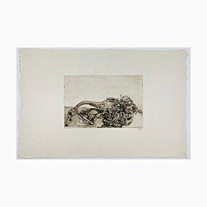 Horst Janssen, Langenhorn / Schuh, Freundschaft II, 1972, Impresión firmada a mano en papel