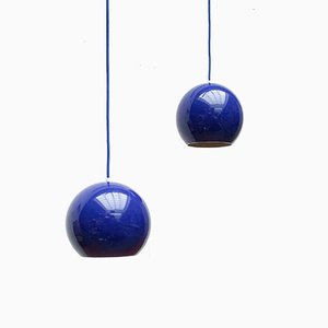 Mid-Century Topan Pendant Lamps by Verner Panton for Louis Poulsen, Set of 2