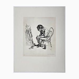 Andreas Paul Weber, C'est la vie, 1980, Hand-Signed Lithograph on Paper