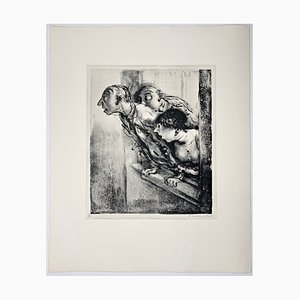 Andreas Paul Weber, Was war das?, 1974, Hand-Signed Lithograph on Paper