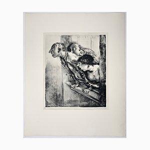 Andreas Paul Weber, Was war das?, 1974, handsignierte Lithografie auf Papier