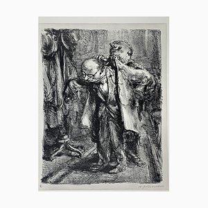 Andreas Paul Weber, Sie gestatten, 1973, handsignierte Lithografie auf Papier