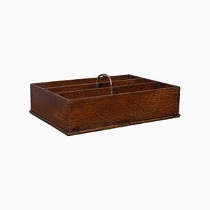 Antique English Georgian Oak Butlers Carry Tray, 1800s