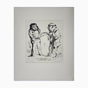 Andreas Paul Weber, Schwarz auf Weiß, 1974, Hand-Signed Lithograph on Paper