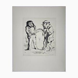 Andreas Paul Weber, Schwarz auf Weiß, 1974, handsignierte Lithografie auf Papier