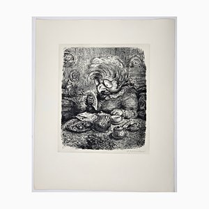 Andreas Paul Weber, Die Morgenpost, 1973, Hand-Signed Lithograph on Paper