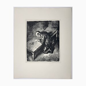 Andreas Paul Weber, Der Gefangene / Der Brief, 1973, Hand-Signed Lithograph on Paper
