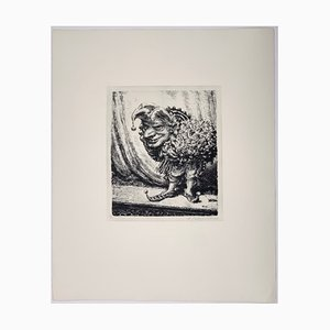 Andreas Paul Weber, Benefiz, 1974, Hand-Signed Lithograph on Paper