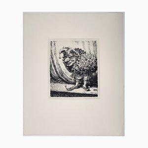 Andreas Paul Weber, Benefiz, 1974, handsignierte Lithografie auf Papier