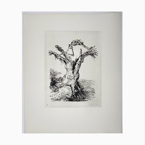 Andreas Paul Weber, Der Morsche Baum, 1973, handsignierte Lithografie auf Papier