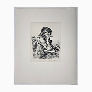 Andreas Paul Weber, Schachspieler I, 1976, Hand-Signed Lithograph on Paper