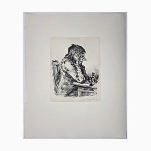 Andreas Paul Weber, Schachspieler I, 1976, Litografía sobre papel firmada a mano