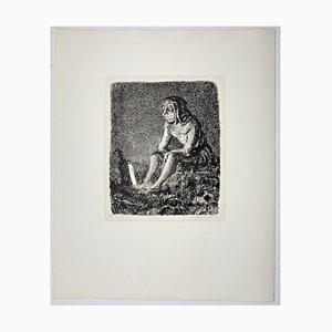 Andreas Paul Weber, Die alte Laterne, 1974, handsignierte Lithografie auf Papier