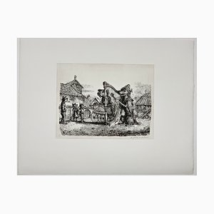 Andreas Paul Weber, Strassenmusikanten, 1979, Hand-Signed Lithograph on Paper