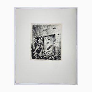 Andreas Paul Weber, 1977, Hand-Signierte Lithografie auf Papier