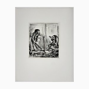 Andreas Paul Weber, Verschiedener Meinung, 1978, Hand-Signed Lithograph on Paper