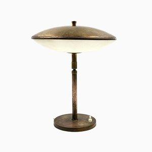 Lampada da tavolo o scrivania Mid-Century in ottone, Italia, anni '50