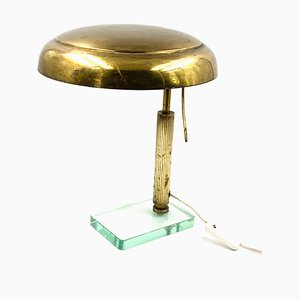 Messing Tisch- oder Schreibtischlampe von Pietro Chiesa für Fontana Arte, 1940er