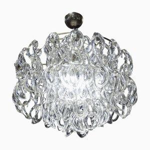 Murano Glas Deckenlampe von Angelo Mangiarotti für Vistosi, 1970er